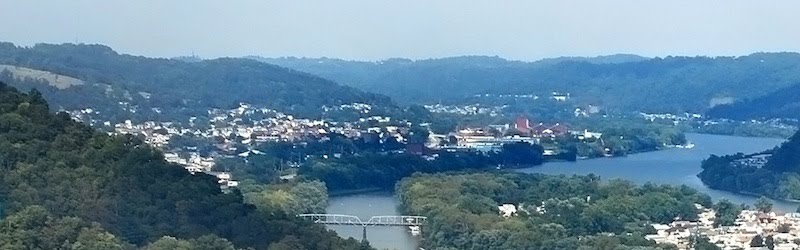 View of Martins Ferry from Bridgeport Heights